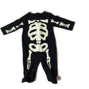 Carter's 3 Mo Glow In The Dark Skeleton Jumpsuit